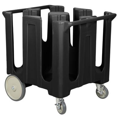 Cambro DC1225110 Black Poker Chip Dish Dolly / Caddy with...