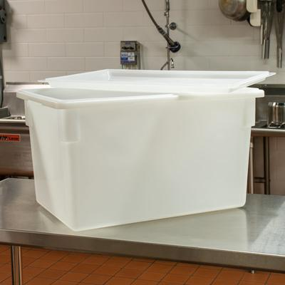 """Cambro 1826CP148 18"""" x 26"""" White Poly Flat Lid for Food S..."""