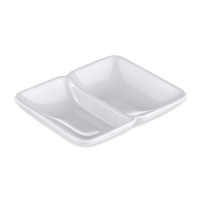 GET 037-W Rectangular Sauce Dish w/ (2) 1-oz Compartments...