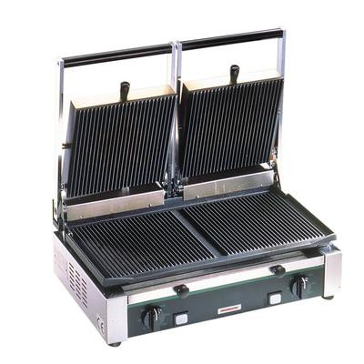 Cecilware TSG2G Double Commercial Panini Press w/ Cast Ir...