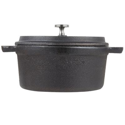 "American Metalcraft CIPR5500 5"" Round Cast Iron Mini Pot"