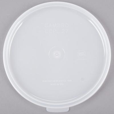 Cambro CCPL27148 Replacement White 1.5 and 2.7 Qt. Round ...