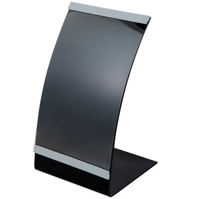 "Tablecraft AS57 5 1/2"" x 8 1/2"" Curved Menu Displayette"