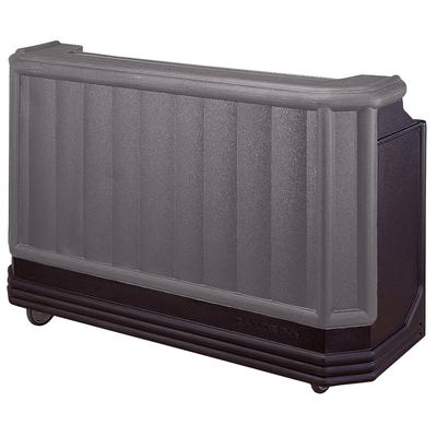 """Cambro BAR730420 Granite Gray and Black Cambar 73"""" Portable Bar with 7 Bottle Speed Rail"""