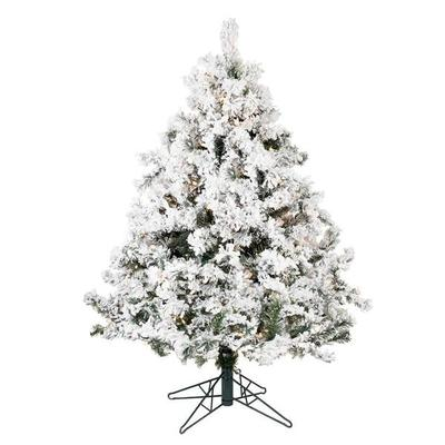 "Vickerman 01416 - 4.5' x 44"" Flocked Alaskan Pine 300 Cle..."