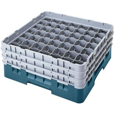 Cambro 49S434414 Teal Camrack Customizable 49 Compartment...