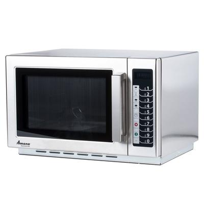 Amana RCS10TS Stackable Commercial Microwave with Push Bu...