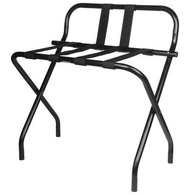 Lancaster Table & Seating Black Folding Luggage Rack with...