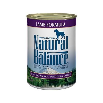 Natural Balance Ultra Premium Lamb Formula Canned Dog Foo...