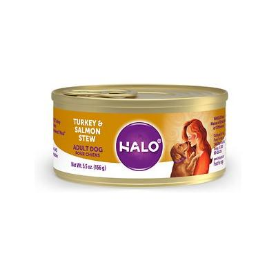 Halo Turkey & Salmon Recipe Adult Canned Dog Food, 5.5-oz...