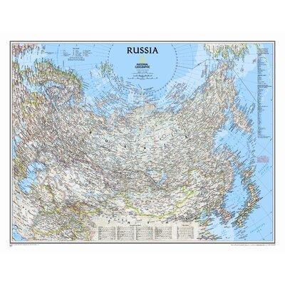 National Geographic Maps Russia Classic Wall Map RE006220...