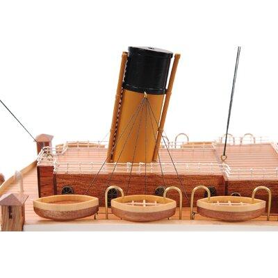 Old Modern Handicrafts Lage Titanic Painted Model Ship C012