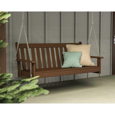 Polywood Vineyard Recycled Plastic 5 ft. Porch Swing Teak - GNS60TE