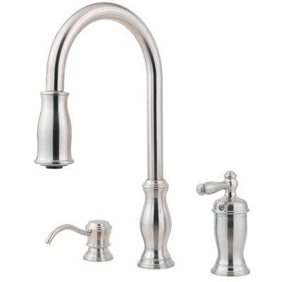 Pfister Hanover Pull Out Single Handle Kitchen Faucet wit...