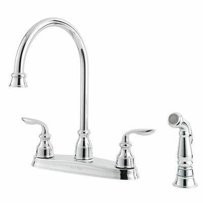 Pfister Avalon Double Handle Kitchen Faucet with Side Spr...