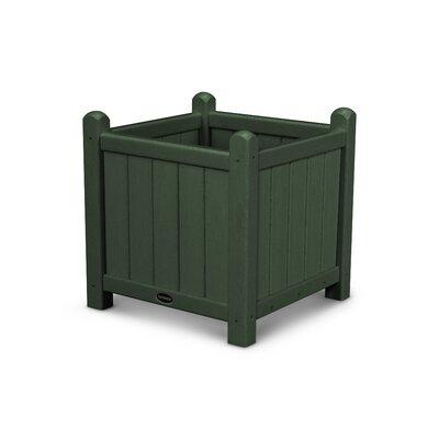 Polywood Traditional 16 in. Square Recycled Plastic Garden Planter Hunter Green - GP16GR