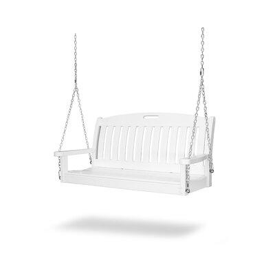 Porch Swing: Polywood 4-ft. Recycled Plastic Nautical Porch Swing - White - NS48WH