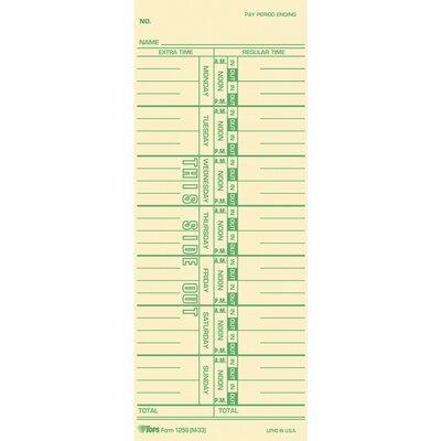Tops BUSINESS FORMS Named Days Time Cards TOP12593