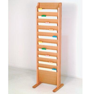 Wooden Mallet Free Standing Ten Pocket Chart Holder CH10-...