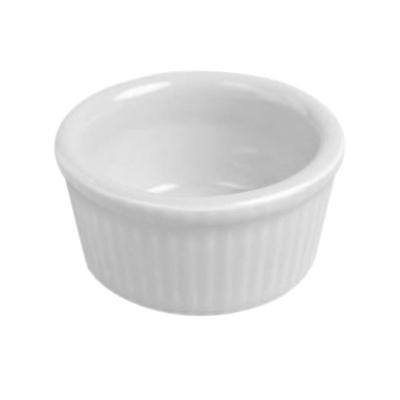 Hall China 8340ABWA Bright White 2.75 oz. Fluted Ramekin ...