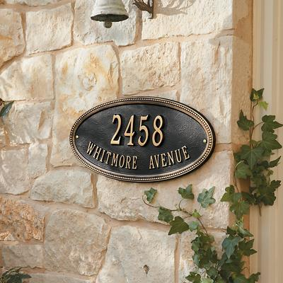 Ballard Designs Beaded Oval One Line Wall Address Sign