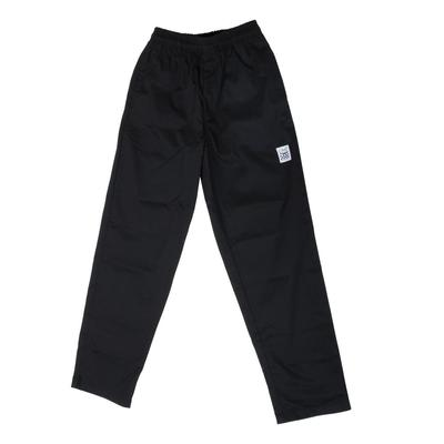 Chef Revival P002BK Size 4X Black EZ Fit Chef Pants - Pol...
