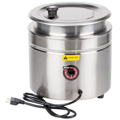 Avantco W800 11 Qt. Stainless Steel Round Countertop Food...