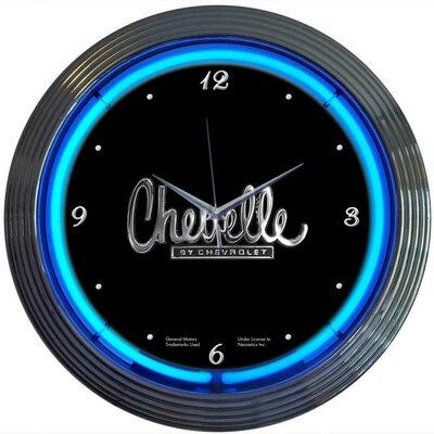 "Neonetics Cars and Motorcycles 15"" Chevelle Wall Clock 8C..."