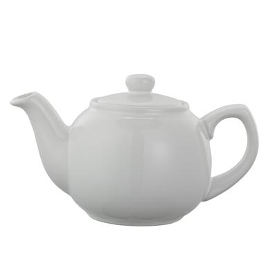 Service Ideas TPCE16WH 16-oz English-Style Teapot, White Ceramic
