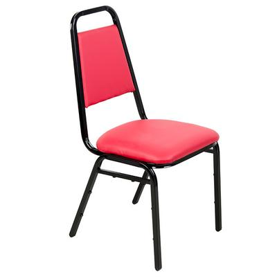 Lancaster Table & Seating Red Stackable Banquet Chair wit...