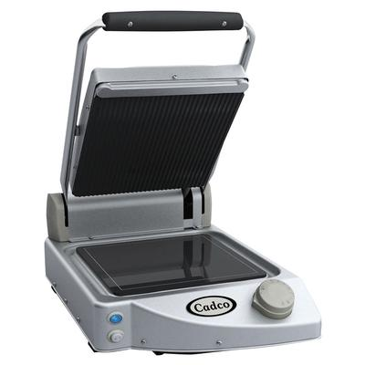 Cadco CPG-10 Commercial Panini Press w/ Ceramic Grooved T...