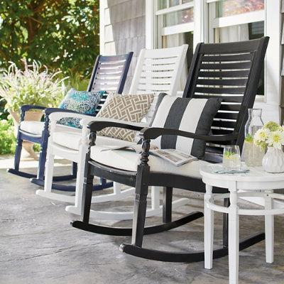Nantucket Outdoor Rocking Chair - Solid White - Grandin Road
