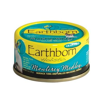 Earthborn Holistic Monterey Medley Grain-Free Natural Canned Cat & Kitten Food, 5.5-oz, case of 24