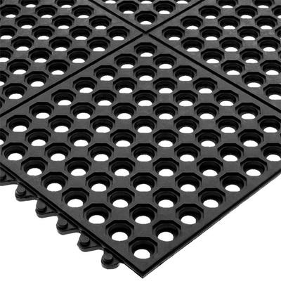 San Jamar KM1140B Connect-A-Mat 3' x 3' Black Grease-Resi...