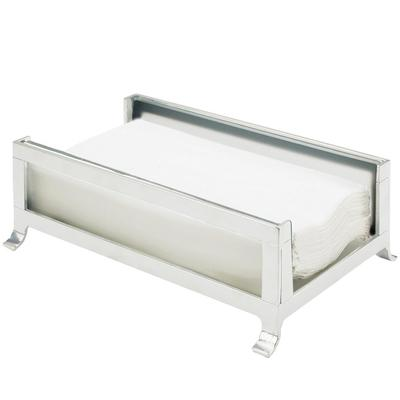 CAL-MIL 1595-33 Soho Silver Napkin Holder with Frosted Gl...