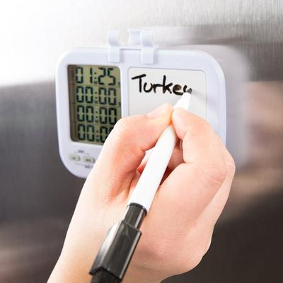 Taylor 5849 Digital 4 Channel Kitchen Timer with White Bo...