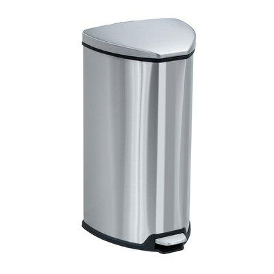 Safco Step-On Receptacle, 7 Gallon 9686SS (Stainless Steel)