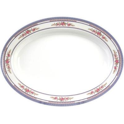 "Thunder Group 2113AR Rose 13"" x 9 3/4"" Oval Melamine Deep..."