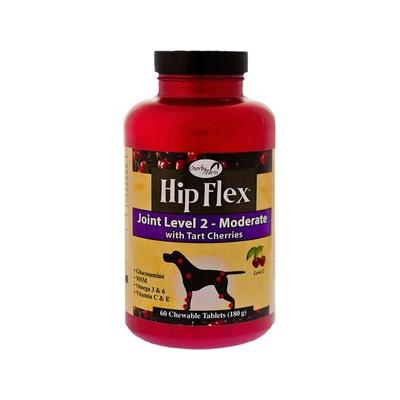 Overby Farm Hip Flex Joint Level 2 Moderate Care with Tart Cherries Dog Tablets, 60 count