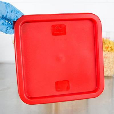 Thunder Red Square Lid for 6 and 8 Qt. Food Storage Conta...