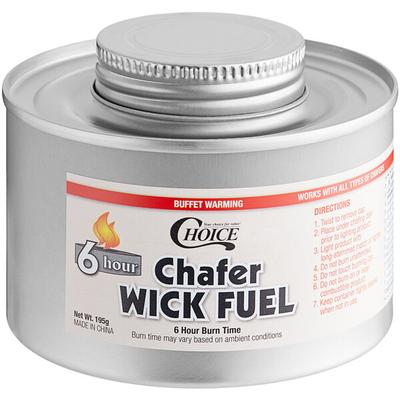 Choice 6 Hour Wick Chafing Dish Fuel with Safety Twist Ca...