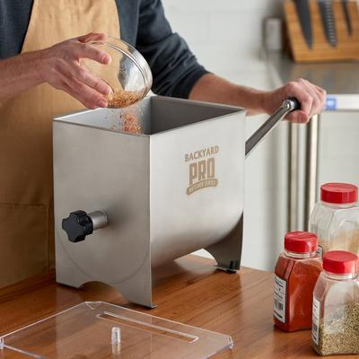17 lb. Manual Meat Mixer with 4.2 Gallon Tank