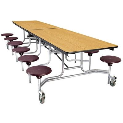 National Public Seating MTS10 10 Foot Mobile Cafeteria Ta...