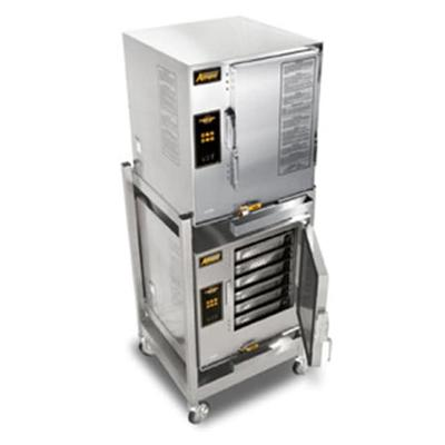Accutemp E62403E110DBL Electric Floor Model Steamer w/ (12) Full Size Pan Capacity, 240v/3ph