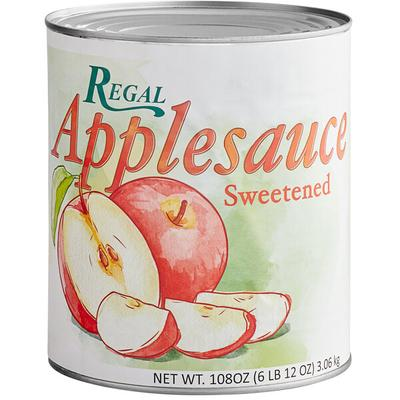 Regal Foods #10 Can Sweetened Apple Sauce - 6/Case