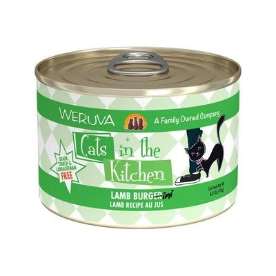 Weruva Cats in the Kitchen Lamb Burgini, Lamb Recipe Au Jus Grain-Free Canned Cat Food, 6-oz, case of 24