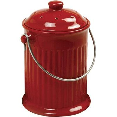 Norpro 1 Gal. Kitchen Composter 93R Color: Ceramic Red