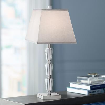 VIENNA Deco Collection Stacked Crystal Table Lamp