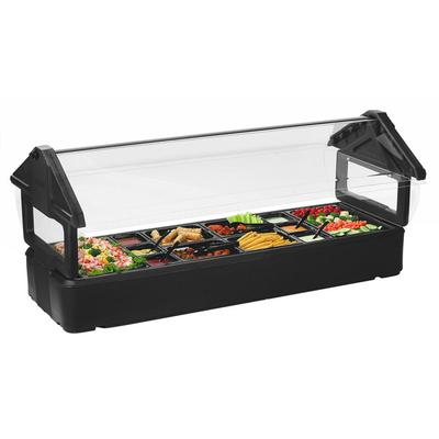 Carlisle 660103 Six Star Black 6' Tabletop Food / Salad B...