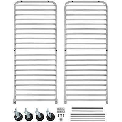 Channel Manufacturing Knock Down Bun Pan Rack Silver, 70.25' Length x 20.5' Width x 26' Depth, Aluminum